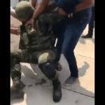 FOTO AMLO elogia respuesta de soldados desarmados en La Huacana, Michoacán (Noticieros Televisa mayo 2019)