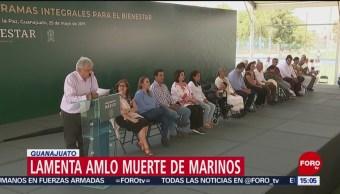 FOTO: AMLO envía su pésame a familiares de marinos muertos en accidente, 25 MAYO 2019
