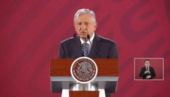 Foto: El presidente de México, Andrés Manuel López Obrador , en su conferencia de prensa matutina, 2 mayo 2019