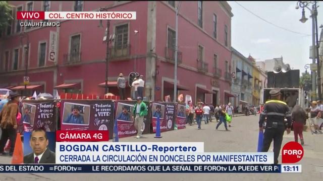 Foto: Antorchistas protestan ante Congreso de la CDMX