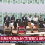 FOTO: Anuncian nuevo programa de contingencia ambiental en Valle de México