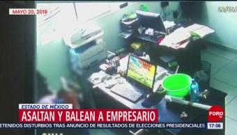 FOTO: Asaltan y balean a empresario en Estado de México