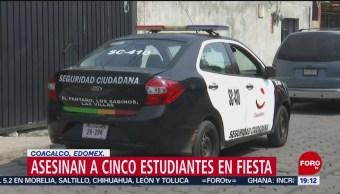 FOTO: Asesinan a 5 estudiantes en una fiesta en Coacalco, Edomex, 25 MAYO 2019