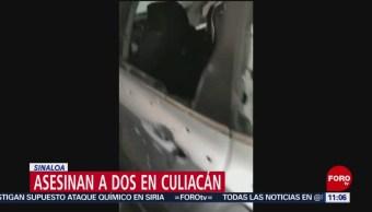 Asesinan a dos hombres en Culiacán, Sinaloa
