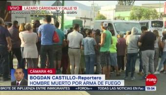 FOTO: Asesinan a tiros a un hombre en calles de Gustavo A. Madero, 25 MAYO 2019