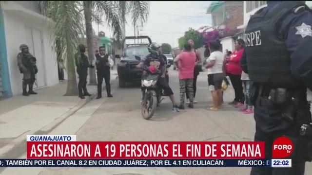 FOTO: Asesinaron a 19 personas el fin de semana en Guanajuato, 19 MAYO 2019