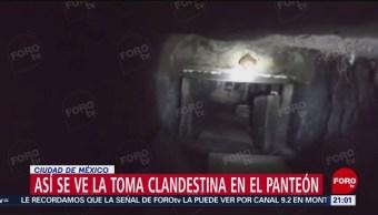 FOTO: Así se ve la toma clandestina en el panteón de Santa Lucía, Azcapotzalco, 11 MAYO 2019