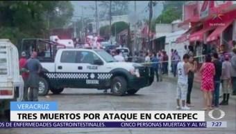 Ataque armado en Coatepec, Veracruz, deja 5 muertos