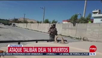 FOTO: Ataque de talibanes deja 16 muertos en un cuartel de policía en Afganistán,5 MAYO 2019