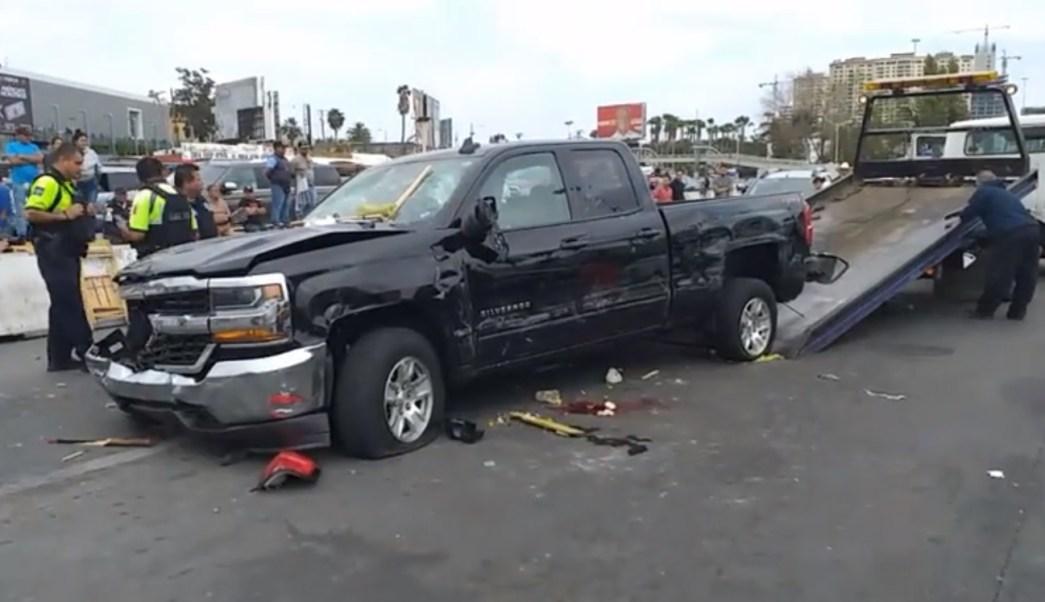 Foto: Estadounidense atropella a cinco personas en Tijuana, 13 de mayo 2019. Facebook-Televisa Tijuana Oficial