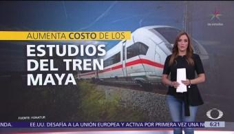 Aumenta costo de los estudios del Tren Maya