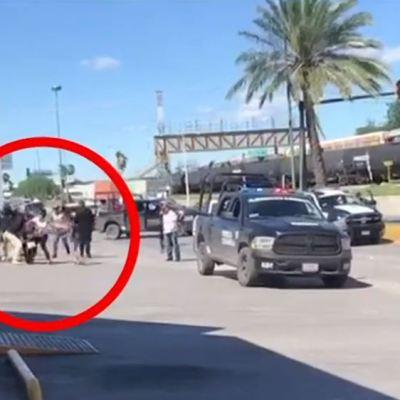 Por la fuerza, detienen a padres que caminan con sus hijos en Piedras Negras, Coahuila