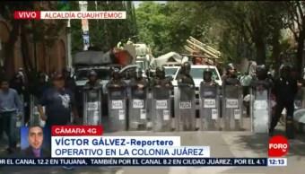 Autoridades capitalinas realizan operativo en la colonia Juárez