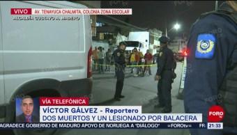 FOTO: Balacera causa dos muertos en alcaldía Gustavo A. Madero, CDMX, 19 MAYO 2019