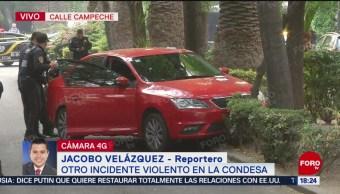 FOTO: Balacera deja dos muertos en la Condesa