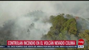 FOTO: Bomberos controlan incendio en faldas del volcán Nevado de Colima, 25 MAYO 2019