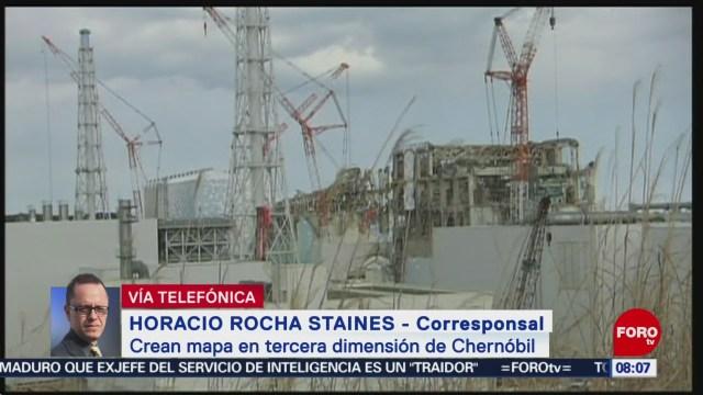 FOTO: Británicos crean mapa en tercera dimensión de Chernóbil, 11 MAYO 2019