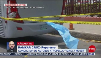 Foto: Camión atropella y mata a mujer en Azcapotzalco