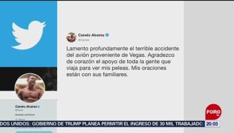 Foto: Canelo Álvarez Lamenta Accidente Aéreo Aficionados Coahuila 6 de Mayo 2019