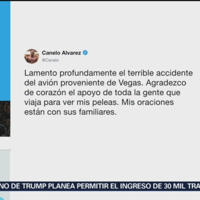 Canelo Álvarez lamenta accidente aéreo de sus aficionados