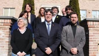 Foto: El expresidente regional de Cataluña Carles Puigdemont, mayo 5 de 2019 (Twitter: @ErnestoEkaizer)