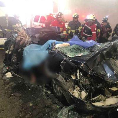 Aparatoso choque en Periférico y Constituyentes deja 5 muertos
