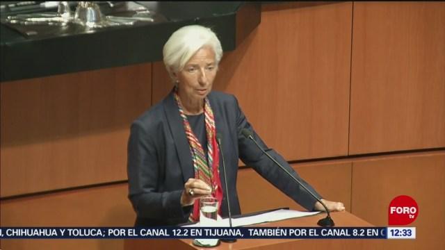Christine Lagarde participa en sesión solemne del Senado en México