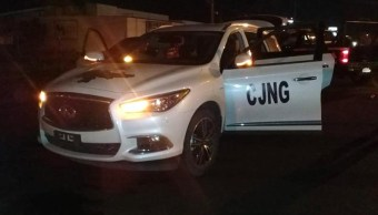 Foto: Convoy del CJNG en Michoacán. 27 d emayo 2019. EFE