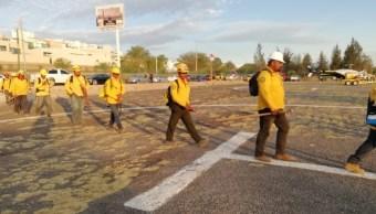 Foto: Elementos de la Comisión Nacional Forestal avanzan en control de incendios forestales en San Luis Potosí, mayo 12 de 2019 (Twitter: @CONAFOR )