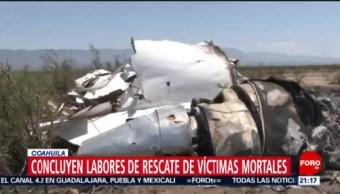 Foto: Labores Rescate Víctimas Avionazo Coahuila 7 de Mayo 2019