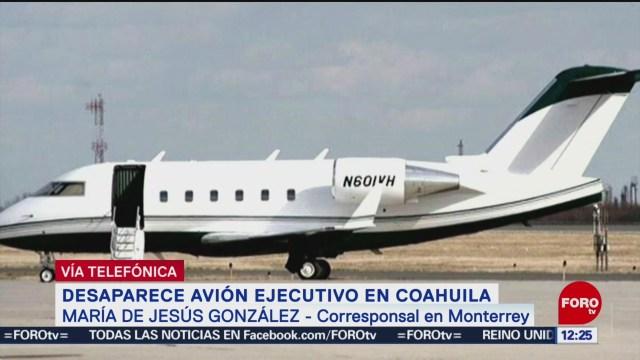 Confirman desaparición de avión privado en Coahuila