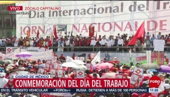 FOTO: Conmemoran Día del Trabajo con mitin en el Zócalo CDMX, 1 MAYO 2019
