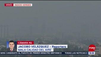 Foto: Contaminación alta en la CDMX; sigue mal la calidad del aire