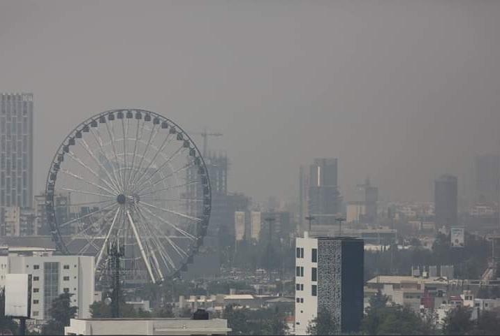 Foto: contaminación ambiental en Puebla, 14 de mayo 2019. Twitter @fhergarciav