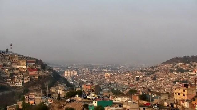 Foto: contaminación ambiental en Pachuca, 16 de mayo 2019. Twitter @gobiernohidalgo
