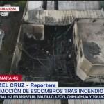 FOTO: Controlan 95% incendio en vulcanizadora en Ecatepec