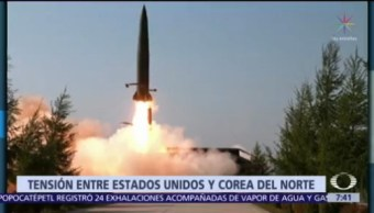 Corea del Norte realiza ensayo de misiles