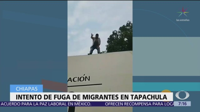 FOTO: Cubanos intentan fugarse de estación migratoria de Tapachula, Chiapas, 1 MAYO 2019