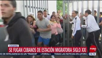 FOTO: Cubanos se fugan de la estación migratoria Siglo XXI de Tapachula, 12 MAYO 2019