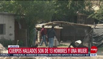 FOTO: Cuerpos hallados son de 13 hombres y una mujer en Jalisco, 19 MAYO 2019