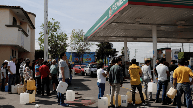 Foto: Desabasto de gasolina en la Ciudad de México, 7 de enero de 2019, México