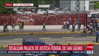 Desalojan Palacio de Justicia Federal de San Lázaro por amenaza de bomba