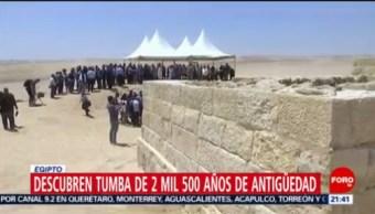 FOTO: Descubren tumba de 2 mil 500 años de antigüedad en Egipto, 4 MAYO 2019