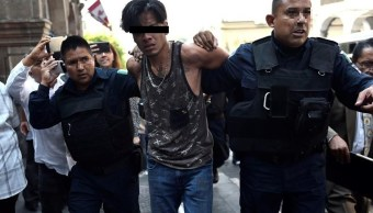 Foto: detenido por balacera en Cuernavaca, Morelos, 8 de mayo 2019. (EFE)