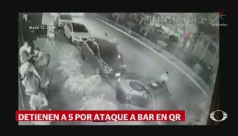 Foto: Detenidos Ataque Cervecería Playa Del Carmen 16 Mayo 2019