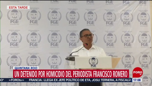 Foto: Detienen Sospechoso Asesinato Periodista Francisco Romero 17 Mayo 2019