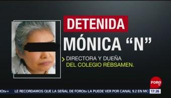 FOTO: Directora del Colegio Rébsamen es detenida en la Ciudad de México, 11 MAYO 2019