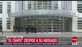 FOTO: 'El Chapo' despide a su abogado, 'El Chapo' despide a su abogado, 4 MAYO 2019