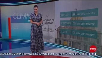 Foto: El Clima 'A las Tres' con Daniela Álvarez del 20 de mayo de 2019