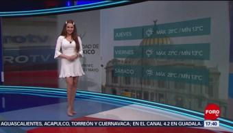 Foto: El clima, con Mayte Carranco del 15 de mayo de 2019